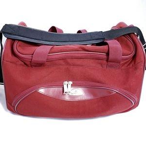 Retro Samsonite Red Carry On Travel Duffle Bag